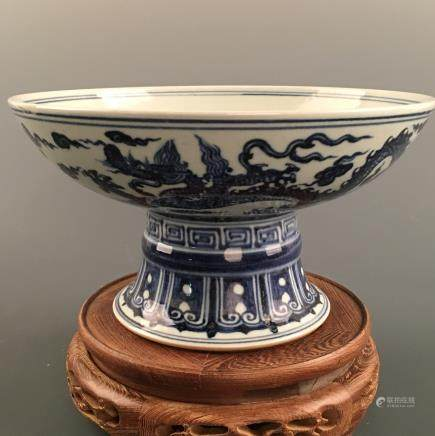 Chinese Blue-White 'Dragon' Bowl, Xuande Mark