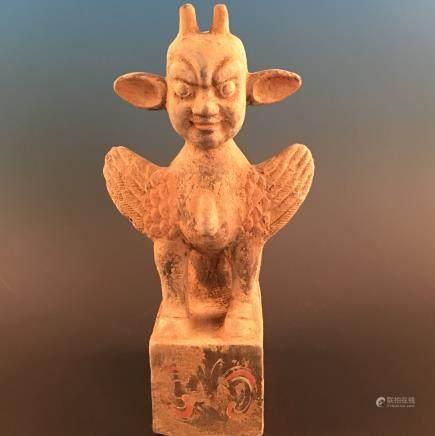 Chinese Tangcai Pottery Statue