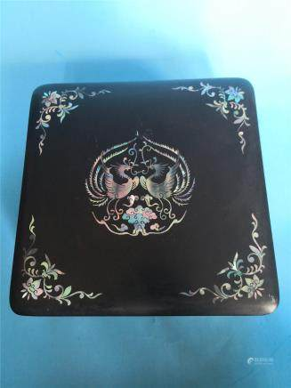 Qing bei carved lacquer box  W 17 CM