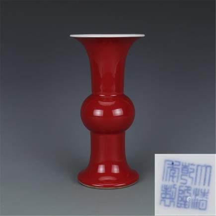 Qing Emperor Qianlong Langhuahua High 25 cm bottom 11 cm mouth 12.5 cm