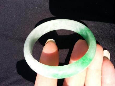 """China  Jadeite bangle. Diameter 2 3/4 in."""""""""""""""