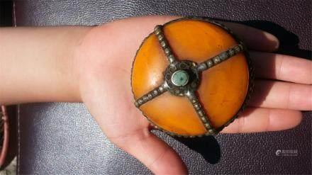 Antique amber box