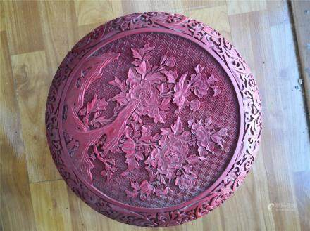 Chinese carved cinnabar lacquered Big box