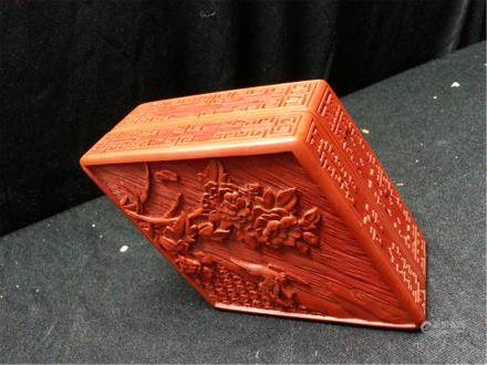Chinese Cinnabar Lacquered box
