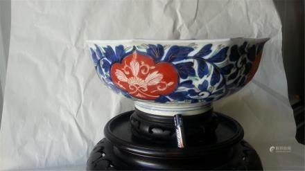 Famille Rose enameled porcelain Bowi