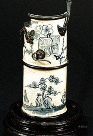 Chinese Porcelain Water Pipe