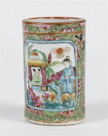 Massive Late 19th Century Chinese Export Rose Medallion  Brush Pot