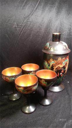 Antique  Foo Chow lacquerware in 1911