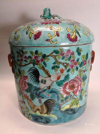 Late 19th Century Chinese Export Rose Medallion  Jar