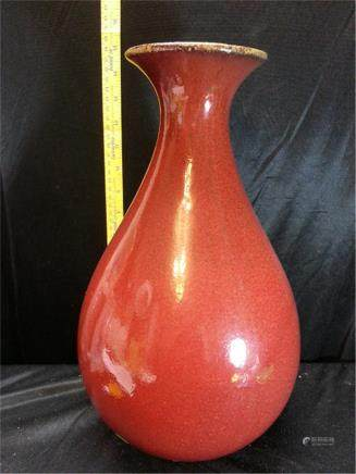 Big Porcelain Red Vase