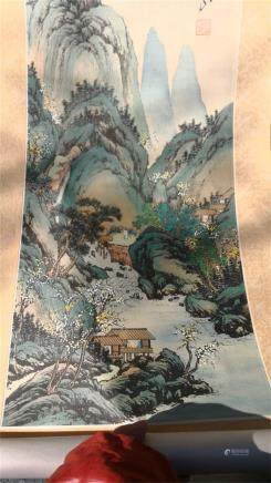 China  scroll paintings""