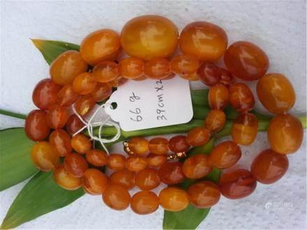 Natural BUTTERSCOTCH AMBER NECKLACE 66 g