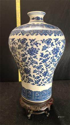 White and blue Porcelain meipin