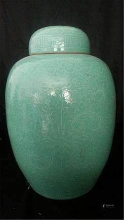 Late 18th Century Chinese Export Rose Medallion VASE JAR king us