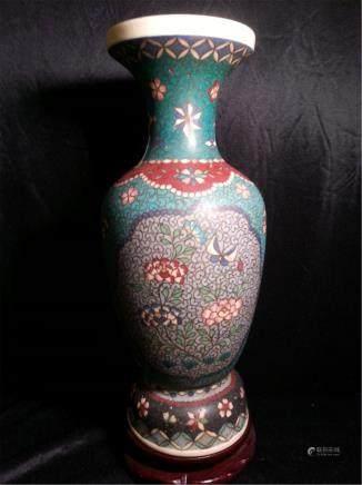 Porcelain Body Cloisonne Vase