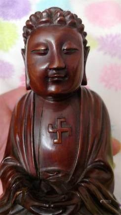 Antique  wood Buddha