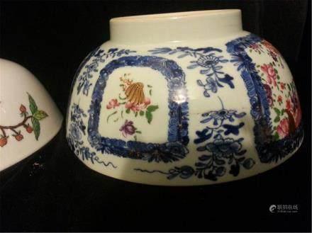 White and blue Antique Porcelain Bowi