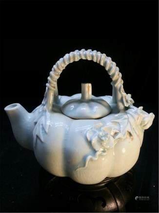 BIG Antique Porcelain Teapot