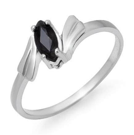 Genuine 0.35 ctw Sapphire Ladies Ring 10K White Gold