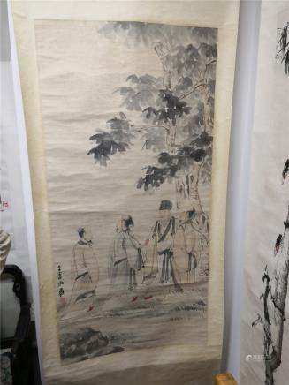 Hand-made scroll painting Zhang Daqian