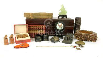 A Chinese wood box,
