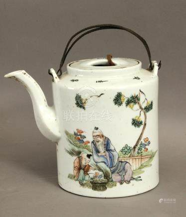 A 20th century Chinese porcelain teapot