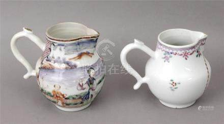 A pair of 18th century Chinese porcelain teapots