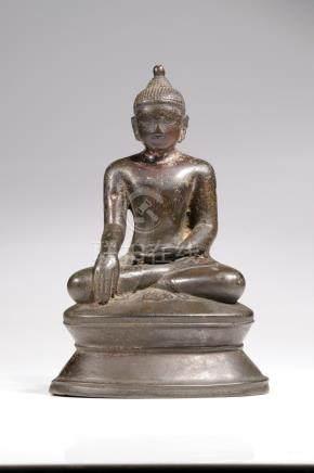 SITTING BUDDHA WITH SERENE SMILE
