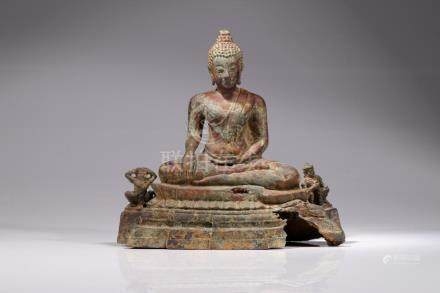 BUDDHA AND TWO GARUDAS