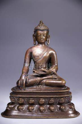 IMPRESSIVE BUDDHA WITH INLAYS
