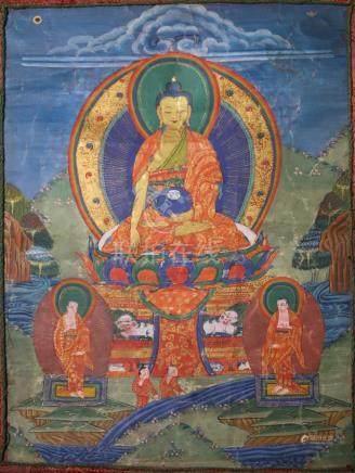 THANGKA DEPICTING BUDDHA