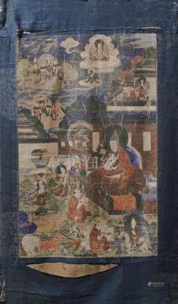THANGKA DEPICTING LAMA TSONG KHAPA