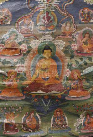 THANGKA DEPICTING BUDDHA AMITHABA