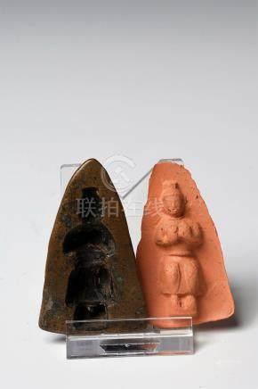 TSA-TSA FORM DEPICTING BUDDHA-MAITREYA