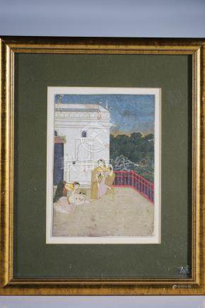 YOUNG PRINCE PAYS HOMMAGE TO A LADY, MINIATURE