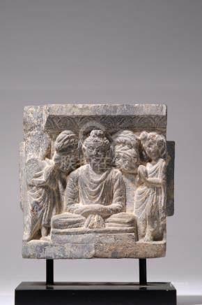 RELIEF DEPICTING MEDITATING BUDDHA
