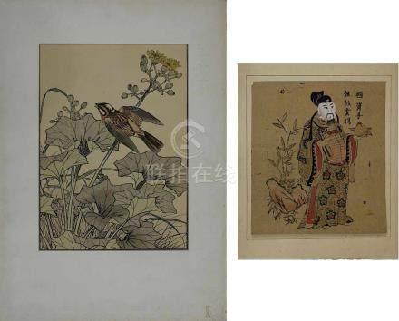 Imaro Keinen (1845-1924), japanischer Farbholzschnitt mit Vogelmotiv aus der 1891 erschienenen Serie