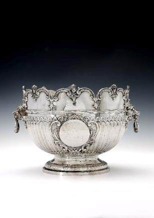 A late Victorian silver punch bowl by Carrington & Co. (John Bodman Carrington)