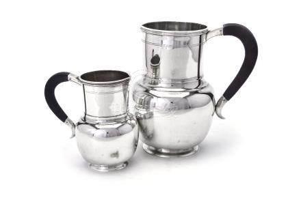 Two Italian silver coloured jugs by Ilario Pradella