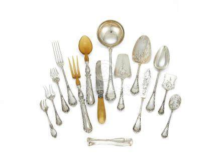 A Belgian silver table service by Delheid Frères