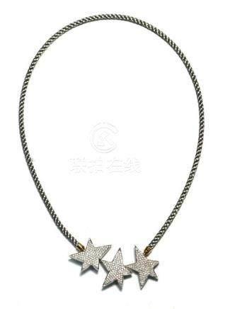 "A Paspaley ""Stellar"" 18ct White Gold Diamond Swap Clasp Neck"