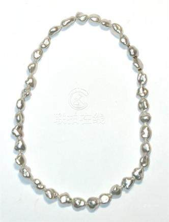 A Paspaley Keshi Baroque Pearl Necklace with Swap Clasp,