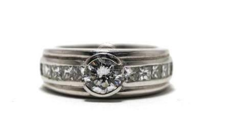 An 18ct White Gold Diamond 1.00ct Diamond Ring,