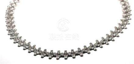 An 18ct White Gold Diamond Necklace