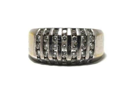 An 18ct White Gold Diamond Ring,