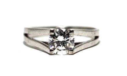 A 14ct White Gold Diamond 1.00ct Solitaire Ring,