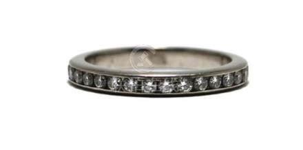 A Platinum Diamond All-Round Band Ring,