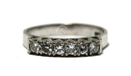 A 14ct White Gold Diamond Band Ring,