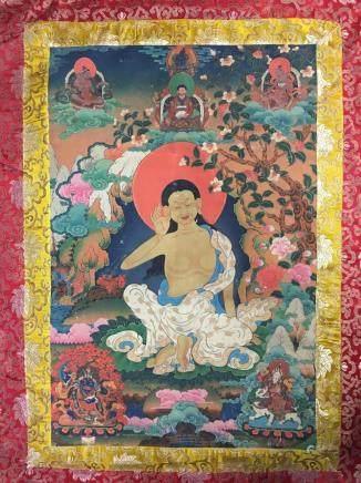Chinese Thangka on Silk