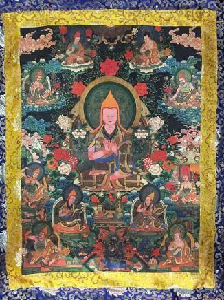 Chinese Thangka of 3rd Dalai Lama on Silk